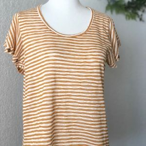 Charming Charlie • Yellow Horizontal Stripe Top